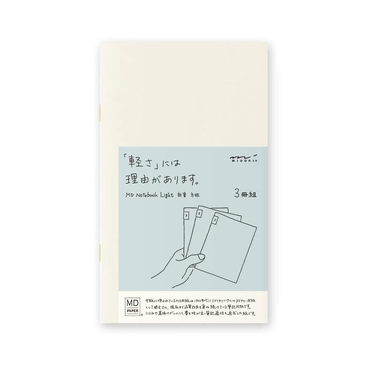 Midori MD Notebook Light [B6 Slim] Rutad 3-pack