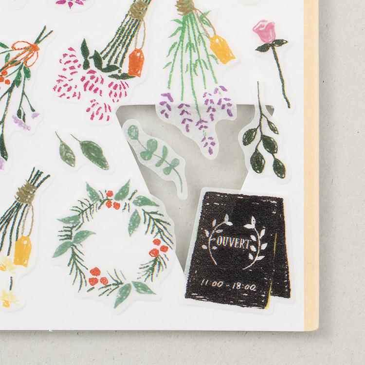 Midori Sticker Marché Dried Flower