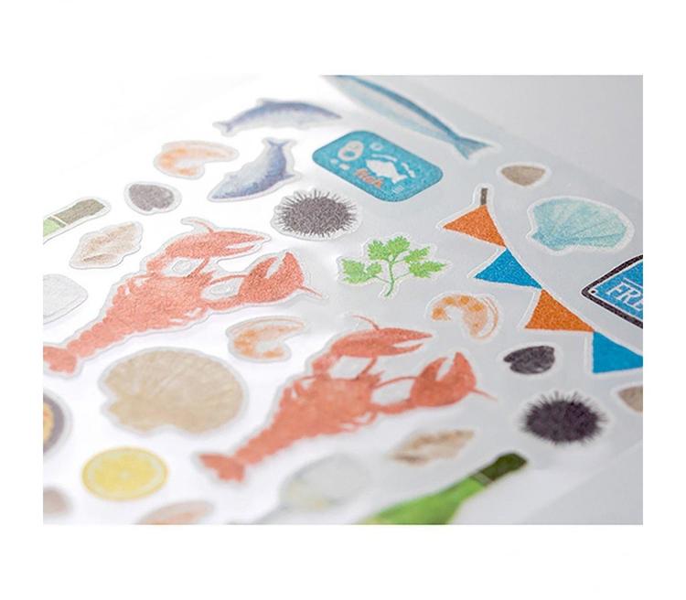 Midori Sticker Marché Seafood