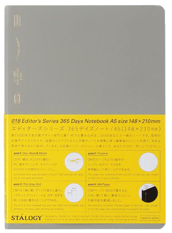 Stálogy 018 365 Days Notebook [A5] Smokey Grey [Limited Edition]