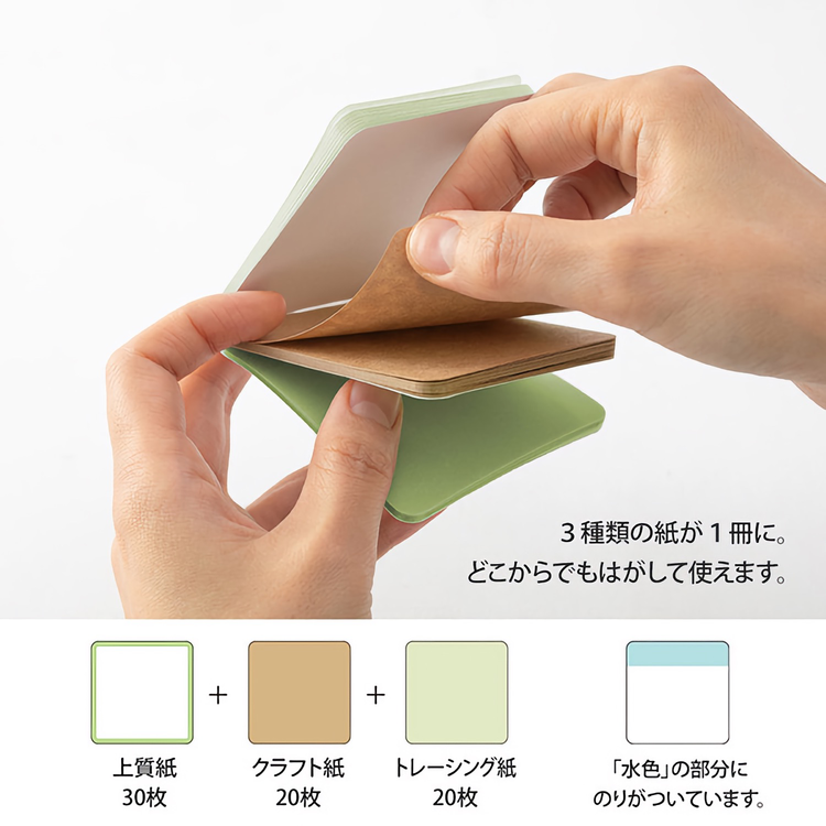 Midori Sticky Notes Pickable Green