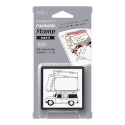 Midori Paintable Stamp Pre-inked Go Today