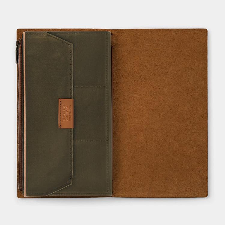 Traveler's Company Traveler's notebook - Cotton Zipper Case Olive, Regular Size (B-Sides & Rarities)
