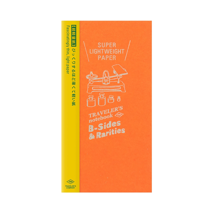 Traveler's Company Traveler's notebook - Super Lightweight Paper, Regular Size (B-Sides & Rarities)