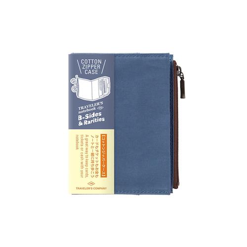 Traveler's Company Traveler's notebook - Cotton Zipper Case Blue, Passport Size (B-Sides & Rarities)