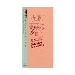 Traveler's Company Traveler's notebook - Sticker Release Paper, Regular Size (B-Sides & Rarities)