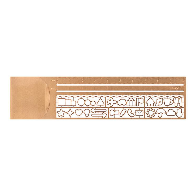 Midori Clip Ruler Copper