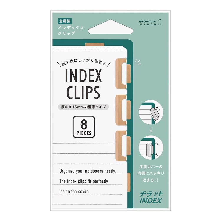 Midori Chiratto Index Clip Orange