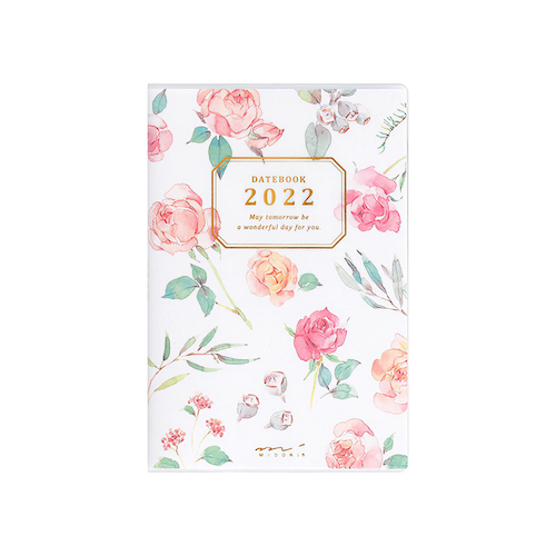 Midori MD 2022 Pocket Diary Mini Country Time Flower