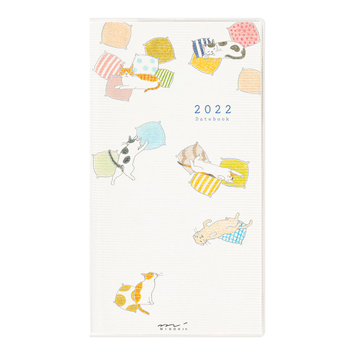 Midori MD 2022 Pocket Diary Slim Cat