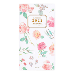 Midori MD 2022 Pocket Diary Slim Country Time Flower