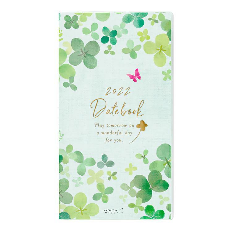 Midori MD 2022 Pocket Diary Slim Clover