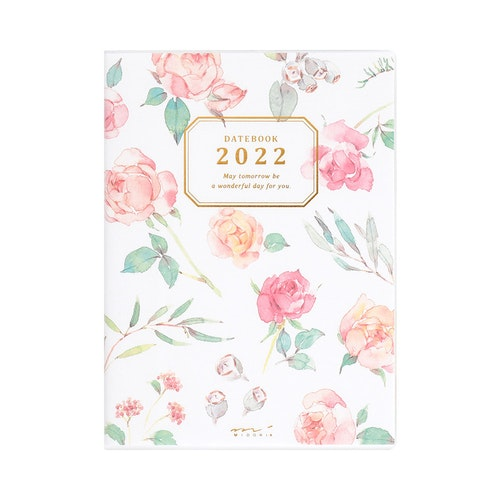 Midori MD 2022 Pocket Diary A6 Country Time Flower