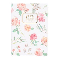 Midori MD 2022 Pocket Diary B6 Country Time Flower