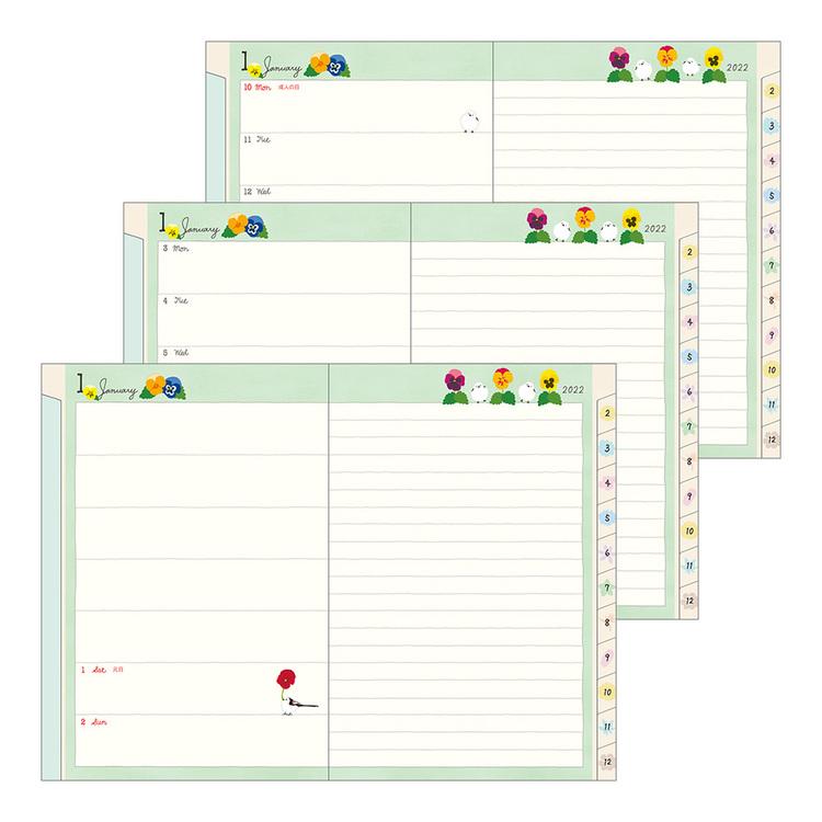 Midori MD 2022 Pocket Diary B6 Bird