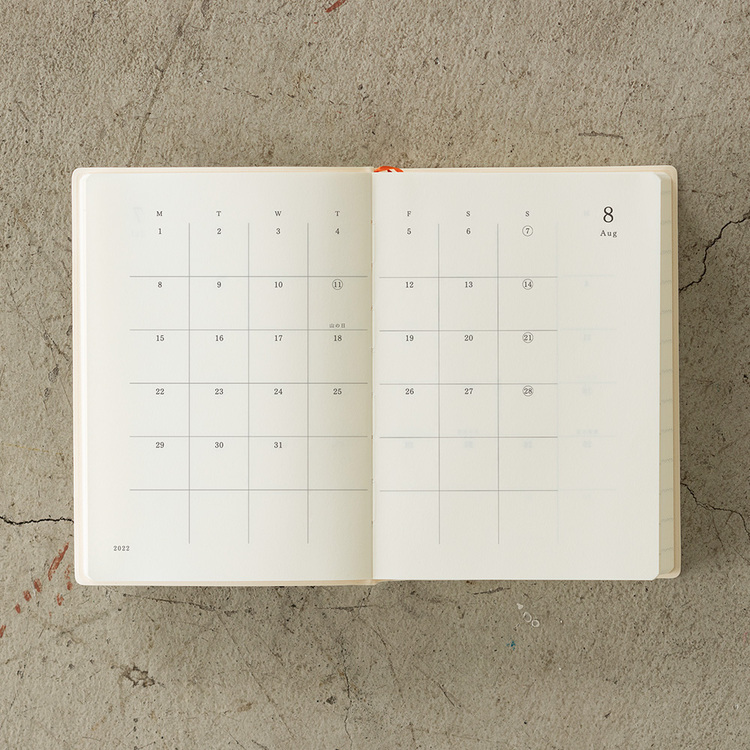 Midori MD Notebook 2022 Diary A6 1Day 1Page