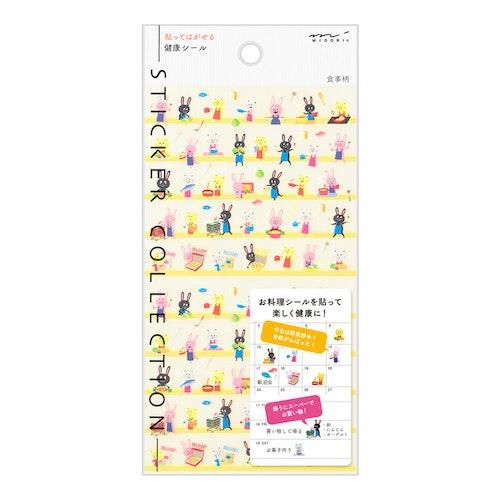 Midori 2022 Diary Sticker Health Meal