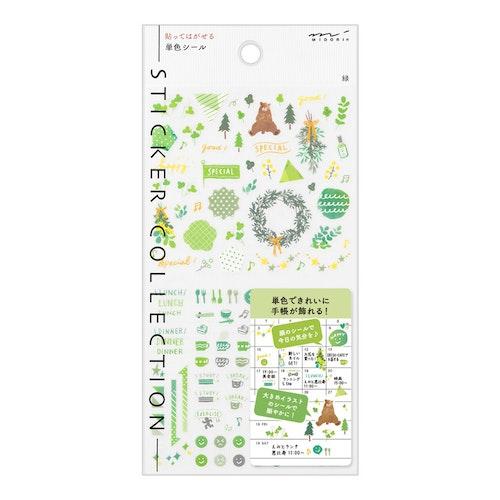 Midori 2022 Diary Sticker Color Green