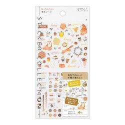 Midori 2022 Diary Sticker Color Brown