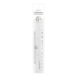 Midori Multiple Ruler [30 cm] Clear