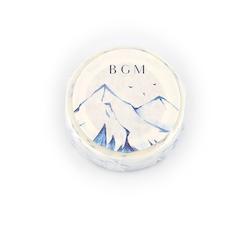 BGM Washi Tape Snowy Mountain 15 mm