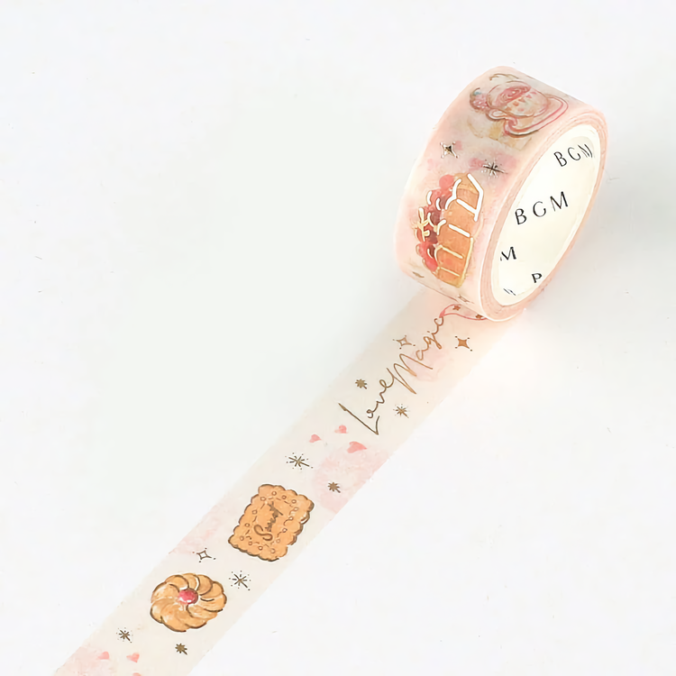 BGM Washi Tape Special Foil Crayon Land Confectionery Store 15 mm
