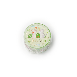 BGM Washi Tape Special Foil Animal Party Camp 20 mm