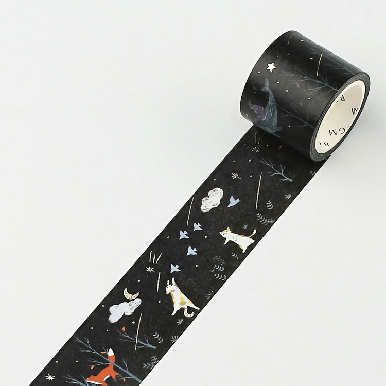 BGM Washi Tape Special Foil Night Forest 30 mm