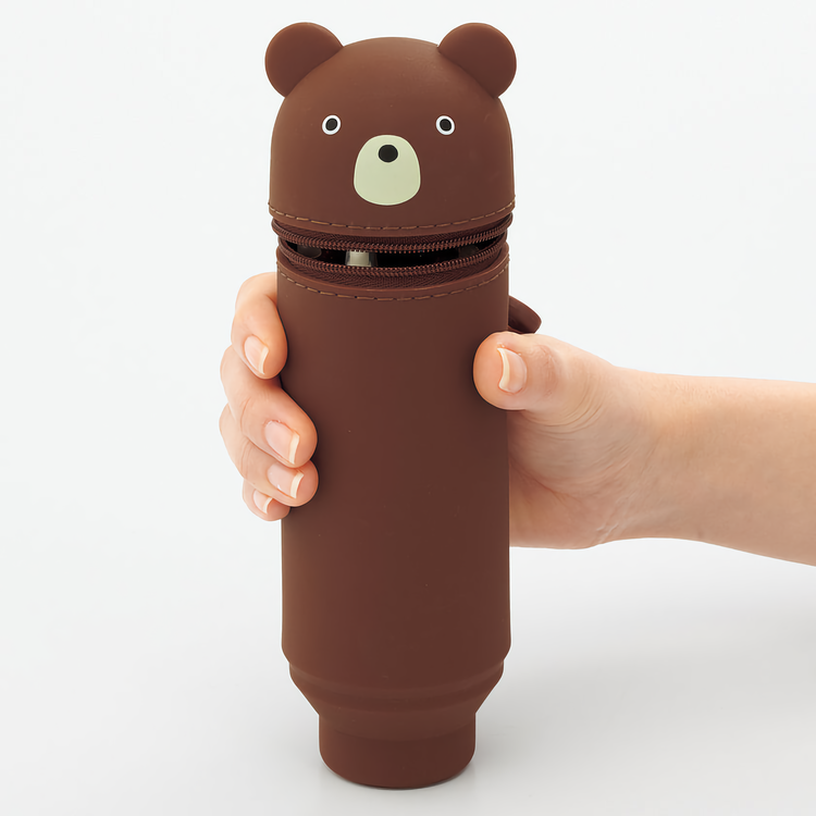 Lihit Lab Smart Fit PuniLabo Stand Pen Case Bear