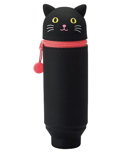 Lihit Lab Smart Fit PuniLabo Stand Pen Case Black Cat