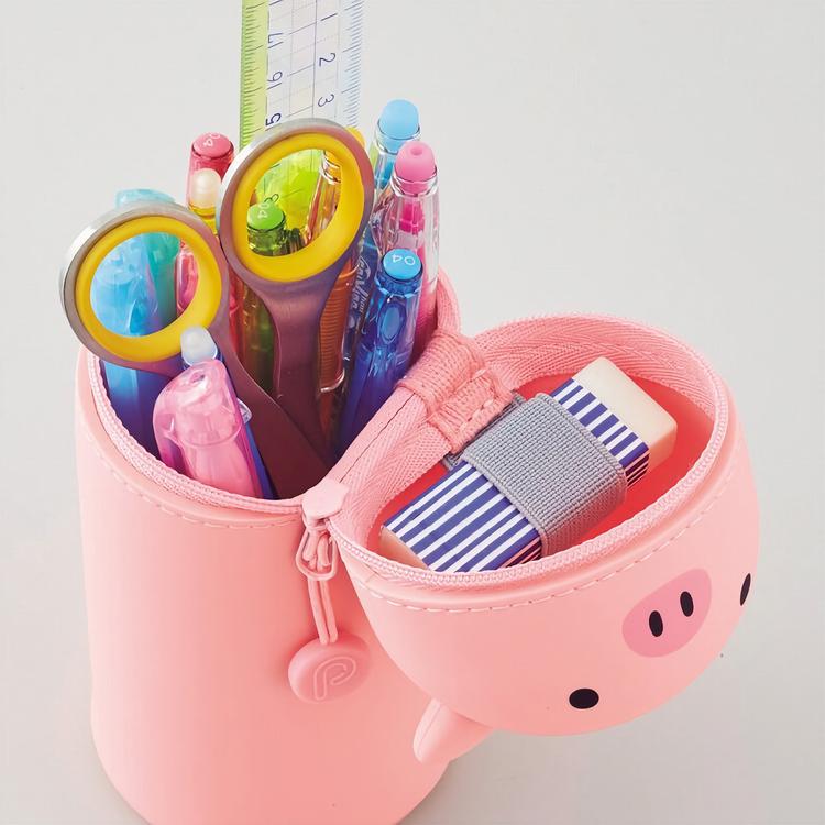 Lihit Lab Smart Fit PuniLabo Stand Pen Case Pig