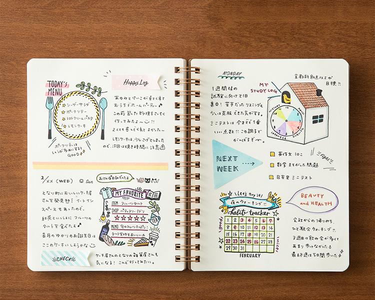 Midori Paintable Stamp Pre-inked Habbit Tracker