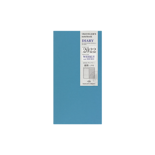 Traveler's Company Traveler's notebook - 2022 Weekly + Memo, Regular Size