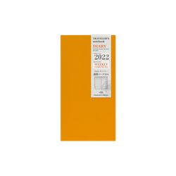 Traveler's Company Traveler's notebook - 2022 Weekly + Vertical Refill, Regular Size