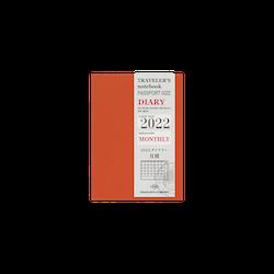 Traveler's Company Traveler's notebook - 2022 Monthly, Passport Size