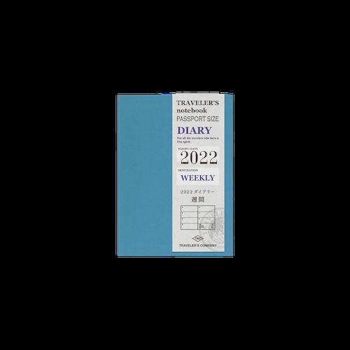 Traveler's Company Traveler's notebook - 2022 Weekly, Passport Size