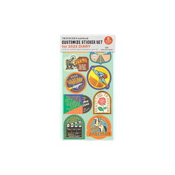 Traveler's Company Traveler's notebook - 2022 Customized sticker set