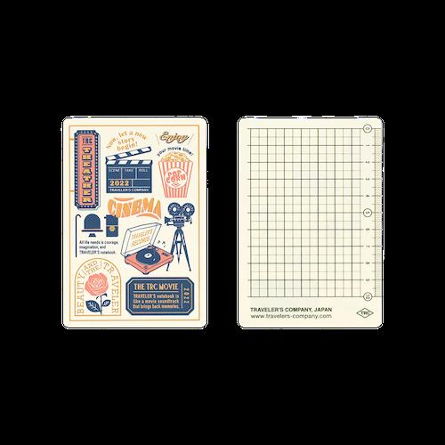 Traveler's Company Traveler's notebook - 2022 Underlay Plastic Sheet, Passport size