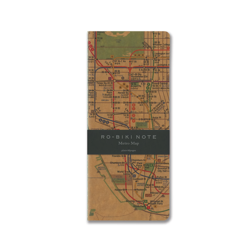 Yamamoto Ro-Biki Notebook Metro Map Blank