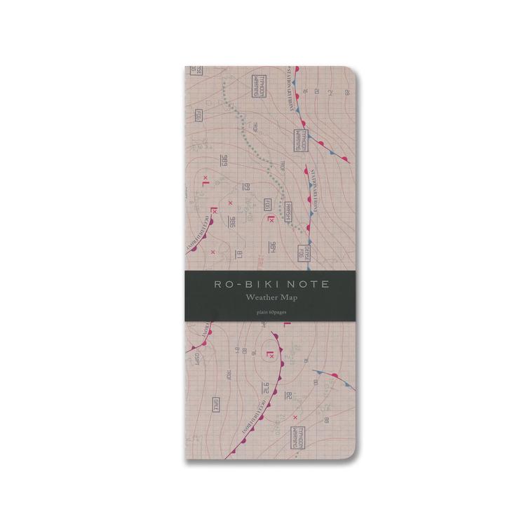Yamamoto Ro-Biki Notebook Weather Map Blank