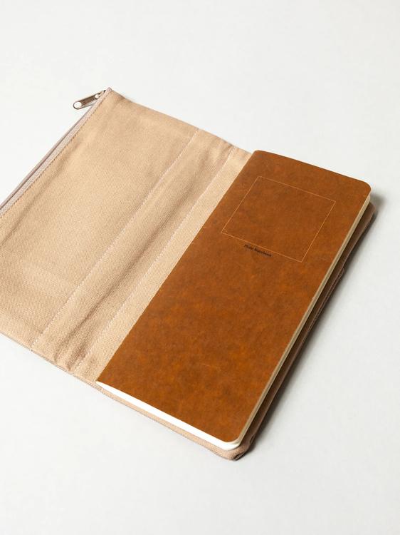 Yamamoto Ro-Biki Notebook Cover Cafe Latte