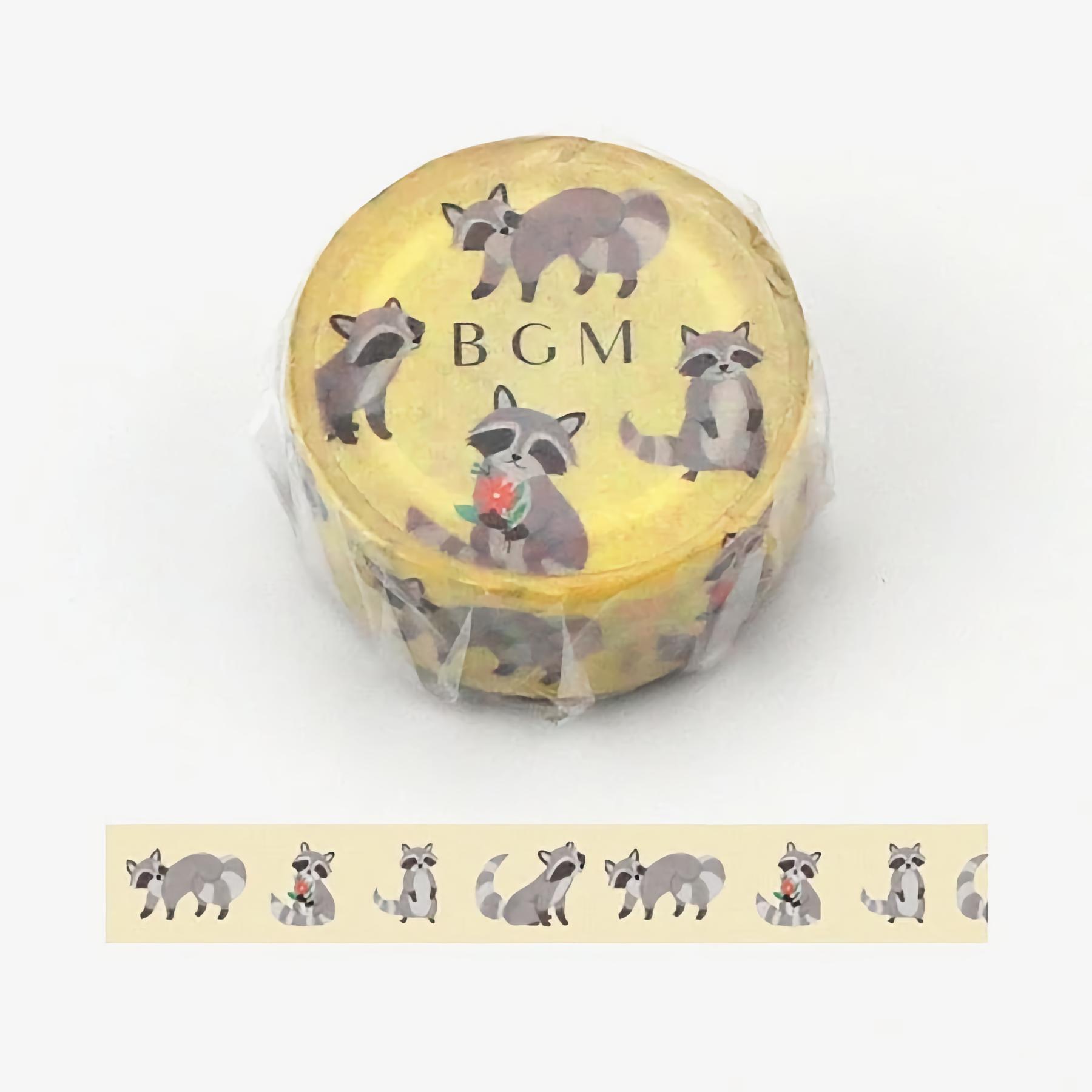 BGM Washi Tape Racoon 15 mm