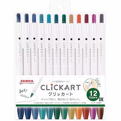Zebra Clickart Knock Sign Pen 12-pack DK