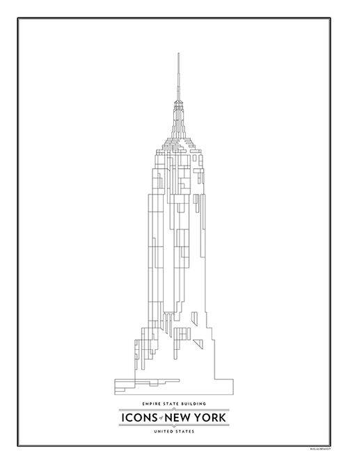 Empire State Building - svart-vit