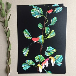 Ginko & paradisfågel, A5