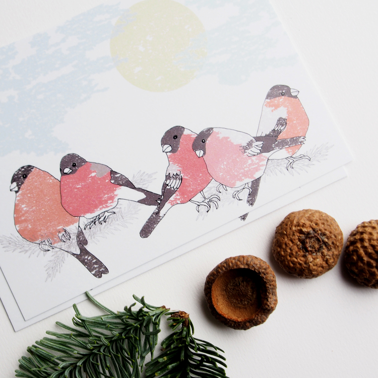 3 st julkort & 10 st paketkort