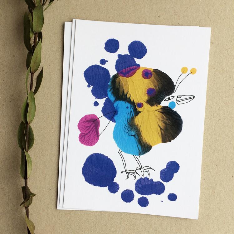 13 st vykort, fåglar