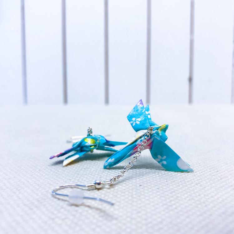 Örhänge Origami Trollslända