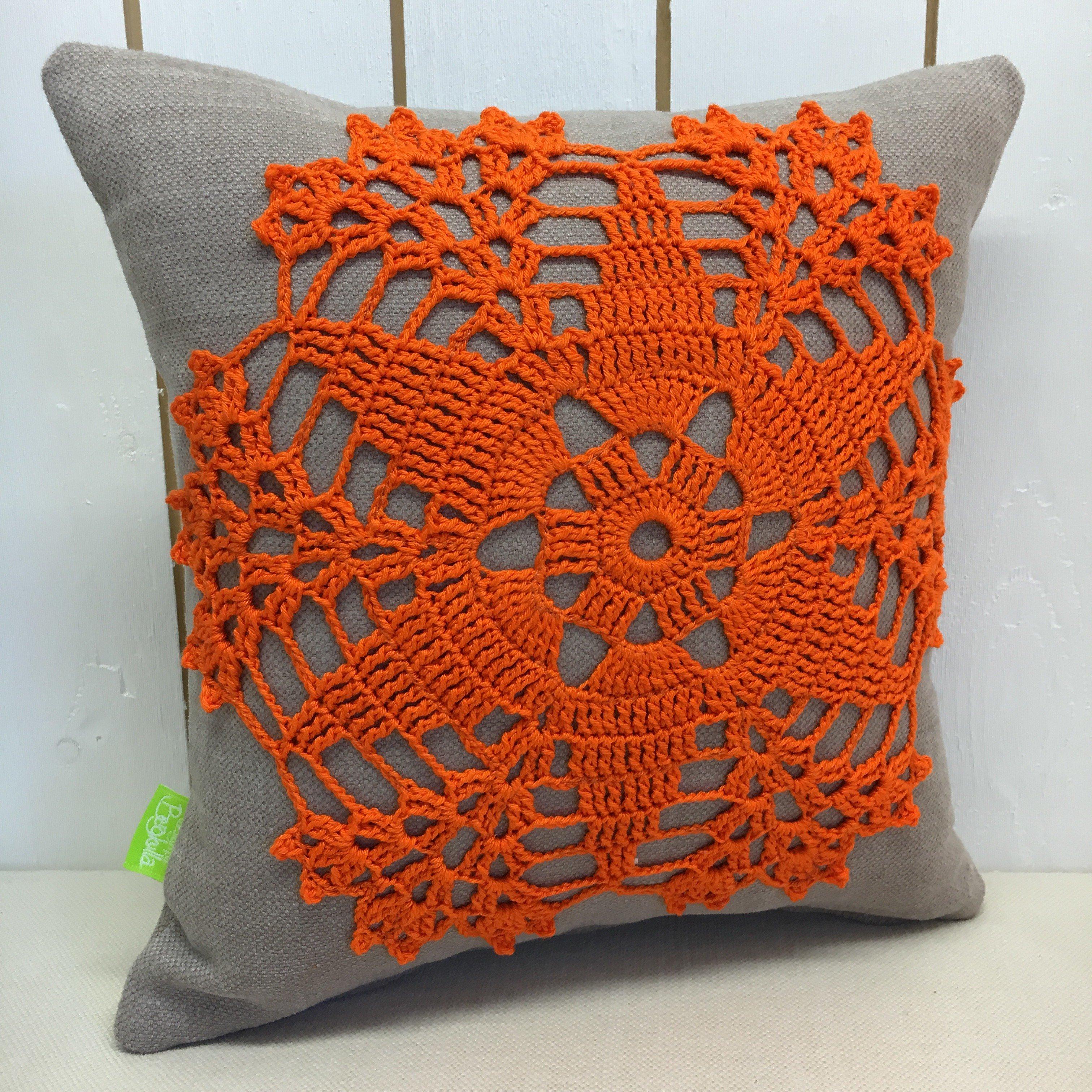 Kudde Orange Blomma