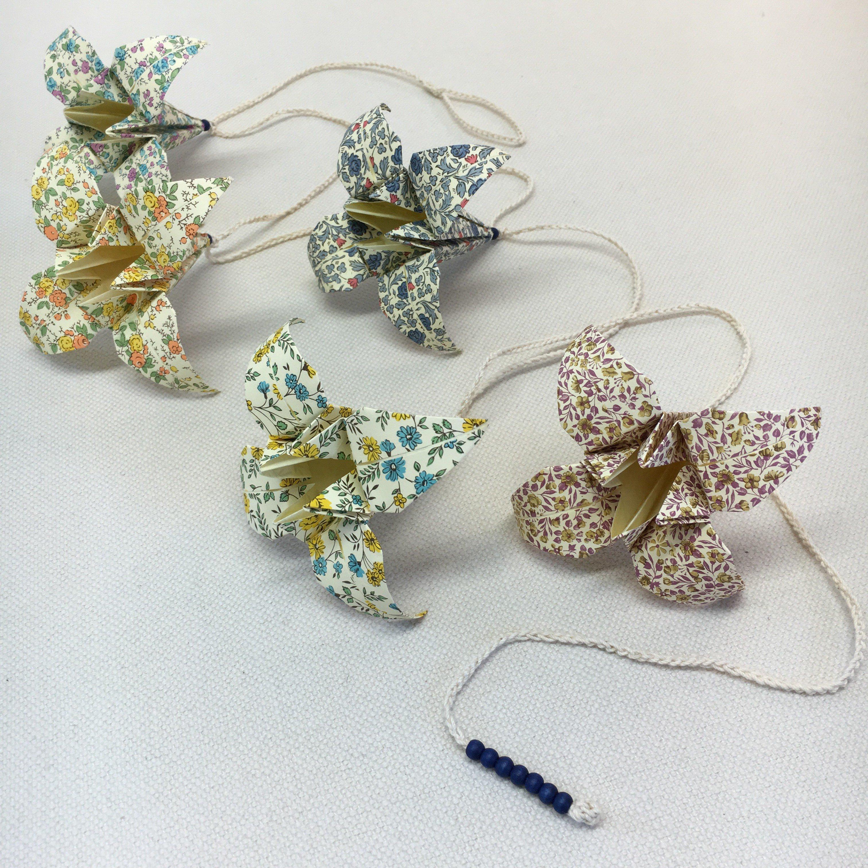 Origami-slinga Blå 1